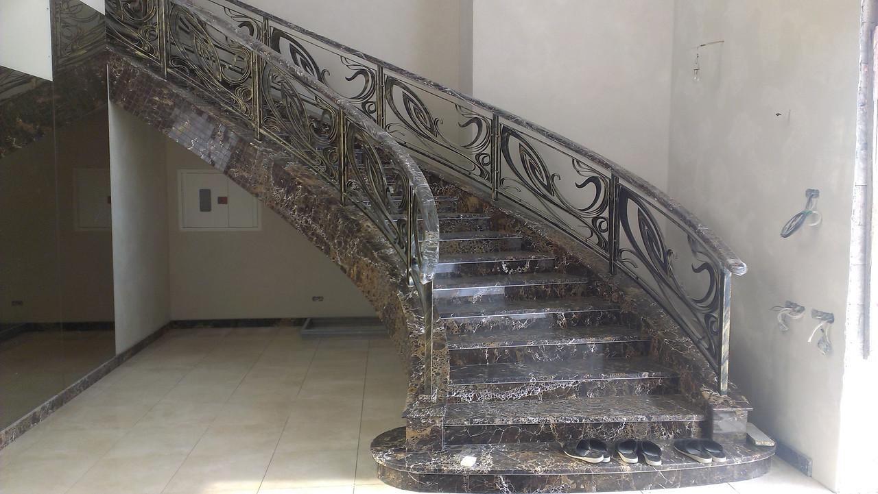Кованые перила на лестницу модель №2