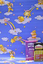 Обои для стен детские шпалери в дитячу сині з медведиками паперові в детскую 0,53*10м, ограниченное количество, фото 2