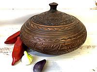 Супник ручной работы из красной глины, фото 1