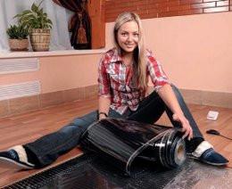 """Монтаж теплої підлоги під """"легке"""" покриття (ламінат, ковролін,, лінолеум та ін)"""