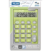 Калькулятор Milan ml.150610TDGRBL TOUCH DUO Rubber Touch, салатовый