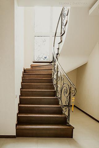 Кованые перила на лестницу модель №3