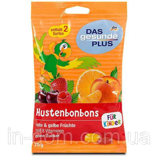 Das gesunde Plus Hustenbonbons für Kinder Детские конфеты от кашля с витаминами 75 г