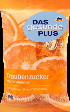 Das gesunde Plus Mivolis Traubenzucker mit 10 Vit Виноградный сахар с 10 витаминами и вкусом апельсина, 100 г