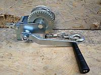 🔴Лебедка ручная Euro Craft с тросом, 360 кг, 10 м / Диаметр троса: 4 мм(таль барабанная механическая поднятия груза тросовая переносная подъемная)