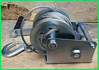 🔴Лебедка ручная • Euro Craft с тросом, 360 кг, 10 м • Качество 5+(подъемная тросовая таль переносная барабанная механическая поднятия груза)