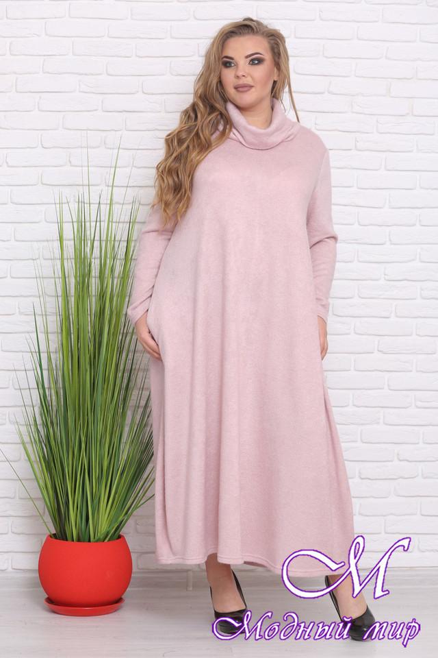 7e8634c919c Теплое длинное женское платье большого размера (р. 54-62) арт ...