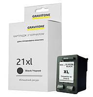 Картридж HP 21 Black (C9351AE) совместимый, аналог C9351CE / C9351BE, XL ресурс (450 копий) Gravitone