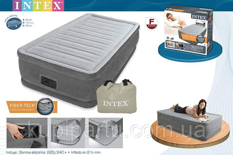 INTEX Надувная кровать(191х99х46см) Comfort-Plush Elevated Airbed 64412
