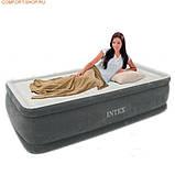 INTEX Надувная кровать(191х99х46см) Comfort-Plush Elevated Airbed 64412, фото 2