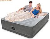 INTEX Надувная кровать Comfort-Plush Elevated Airbed 64414(203х153х46см), фото 2