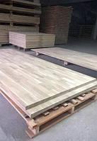 Мебельный щит (дуб) 17мм, цельноламельный, длина 800-1800, качество АВ, доставка по Украине