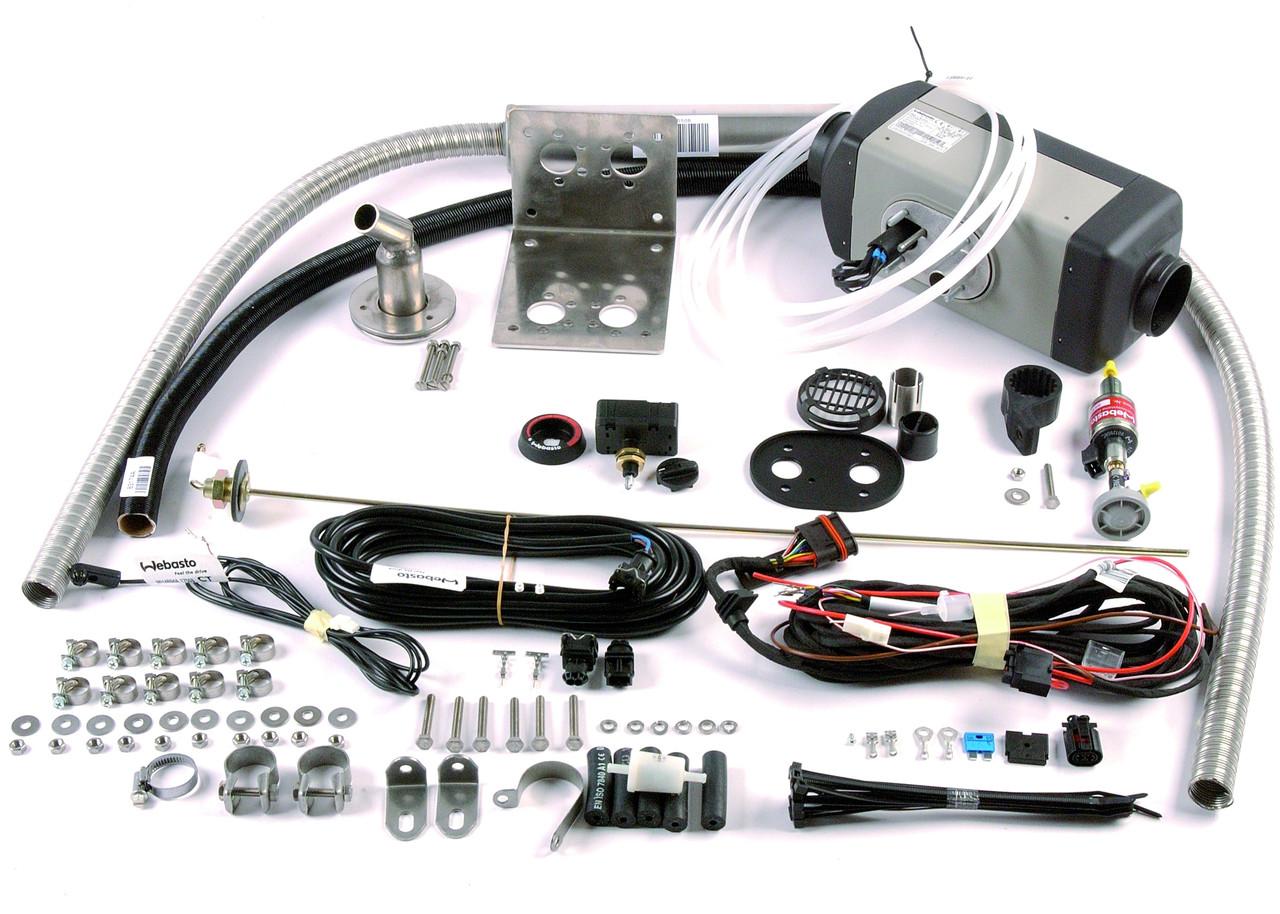 Установка и подключение автономного воздушного отопителя в салон автомобиля