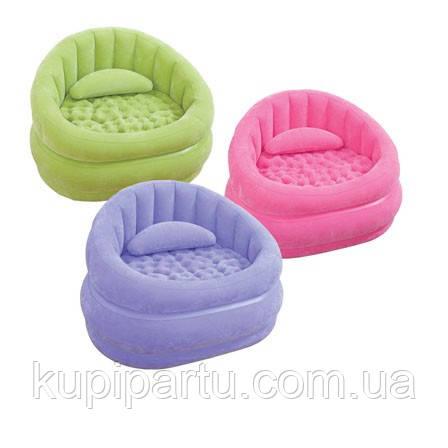 Надувное кресло  Intex 68563P  (Розовое) «Lounge'N Chair» (91х102х65см) киев