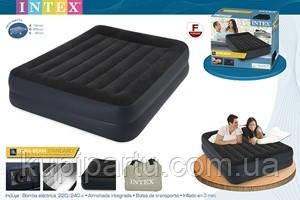 64124 Двуспальная надувная кровать (152х203х42см) Intex