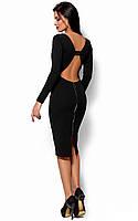 Черное платье с открытой спиной, фото 1