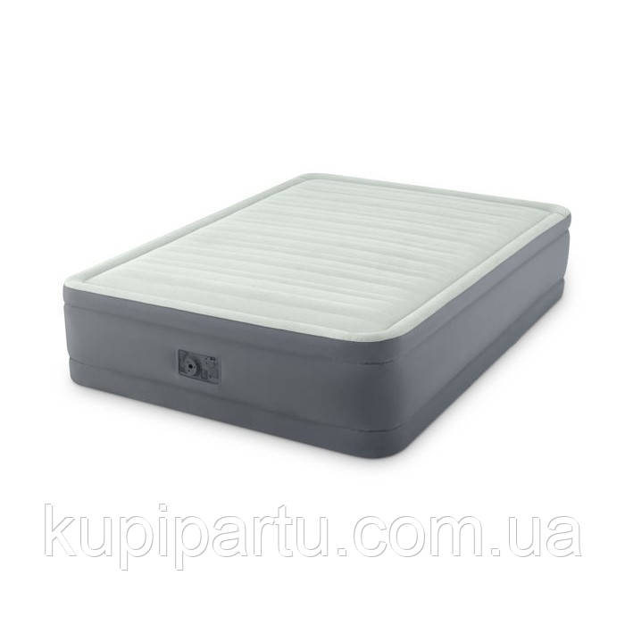 Полуторная надувная кровать 64904 Intex: 137х191х46 см. Встроенный электрический насос 220В