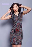 Стильное качественное платье Эльвира, 42 44 46 42 Красный