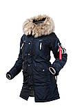 Зимняя женская куртка N-3B Vega Parka Blue Metallic (Thinsulate) AIRBOSS, фото 6