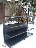 Торгові металеві стелажі б, торговий стелаж б/в, стелажі металеві б у, фото 8