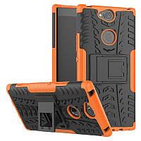 Чехол Sony Xperia XA2 Plus / H4413 противоударный бампер оранжевый