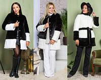 Женская шуба-пальто из искусственного меха №2-014 (р.42-54)