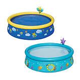 Детский надувной бассейн Bestway 57326 «Пчелки», 152 х 38 см, голубой, фото 2