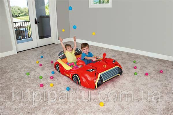 "93404 BW Игровой центр Hot Wheels ""Машина"", 135 х 99 х 43 см, 25 шариков, от 2 лет"