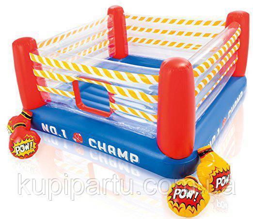 Детский надувной батут Intex 48250 «Боксерский ринг», 226 х 226 х 110 см