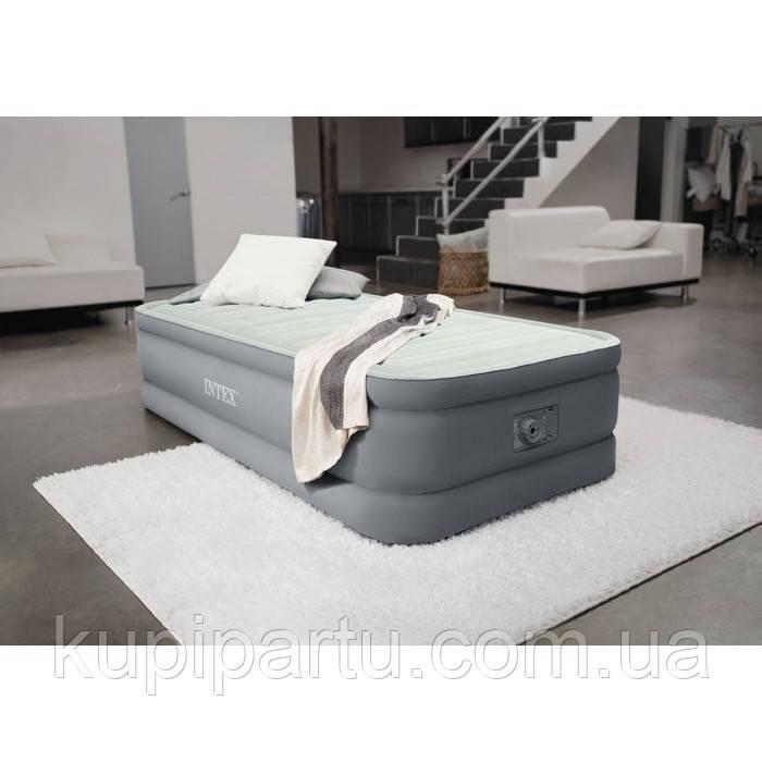 64902 Надувная кровать Premaire Elevated Airbed 99х191х46см, встроенный насос 220V