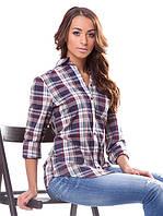 Женская рубашка в клетку (L-XL)