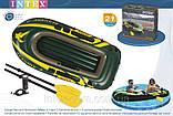 Двухместная надувная лодка Intex 68347 Seahawk-2 Set + пластиковые весла и насос. киев, фото 2