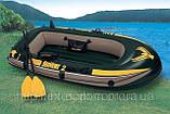 Двухместная надувная лодка Intex 68347 Seahawk-2 Set + пластиковые весла и насос. киев, фото 3