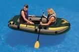 Двухместная надувная лодка Intex 68347 Seahawk-2 Set + пластиковые весла и насос. киев, фото 6