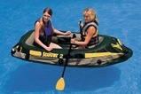 Двухместная надувная лодка Intex 68347 Seahawk-2 Set + пластиковые весла и насос. киев, фото 7