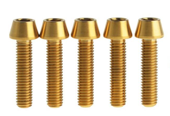 Болт титановый M5x20 мм, золотой
