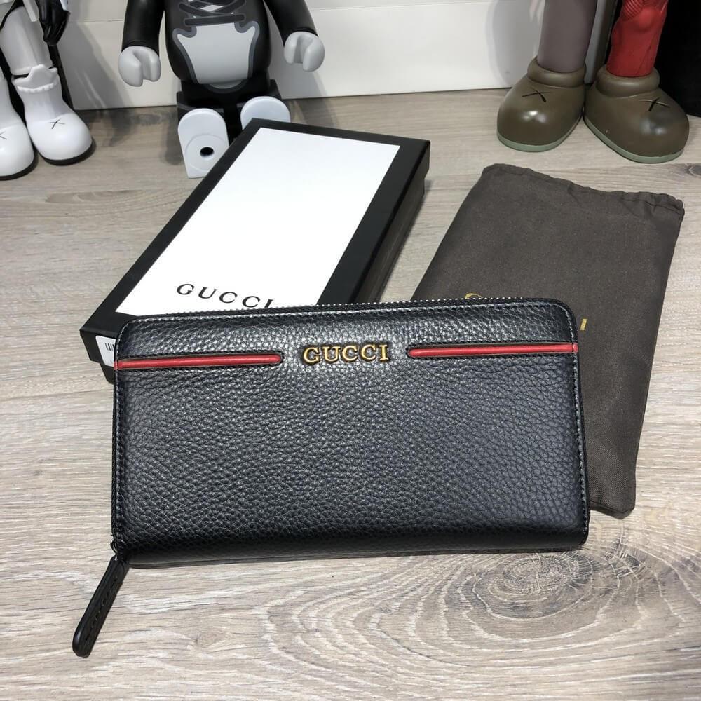 6706e666f3a3 Клатч Gucci Zip Around Ouroboros with Red Stripe Black - Интернет-магазин  обуви и аксессуаров