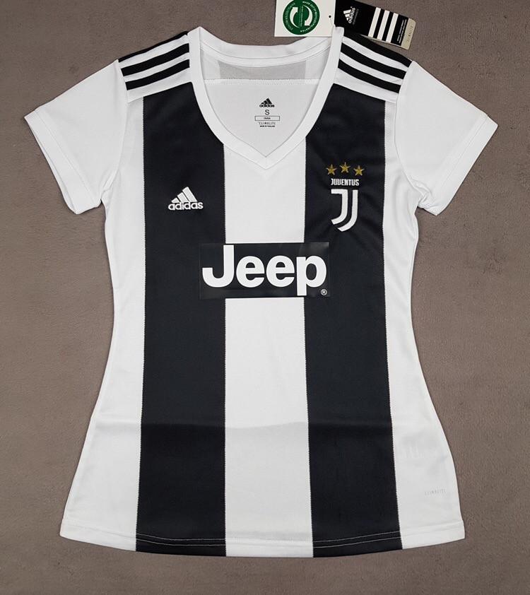 Женская футболка Ювентус (сезон 2018-2019)черно-белая