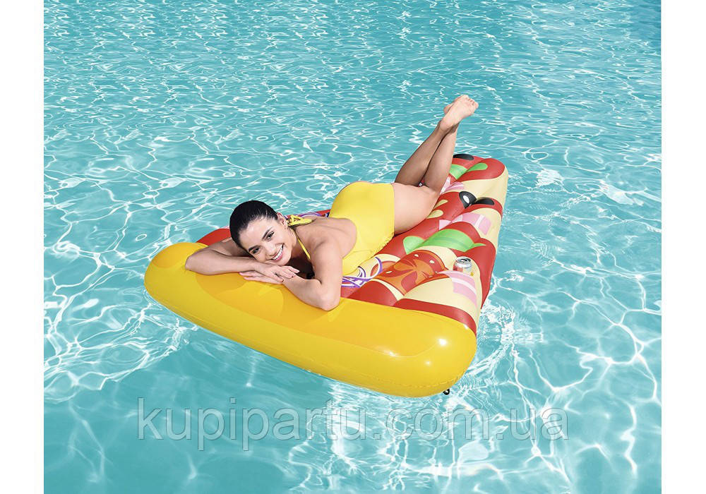 44038 BW Надувной матрас для плавания Пицца,188 х 130 см