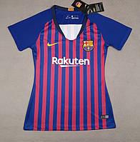 Женская футболка Барселона (сезон 2018-2019)гранатовая
