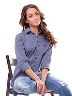 Модная женская рубашка в мелкую клетку (M-XL), фото 1