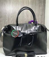 Женская большая сумка Люкс , Натуральна кожа Черный