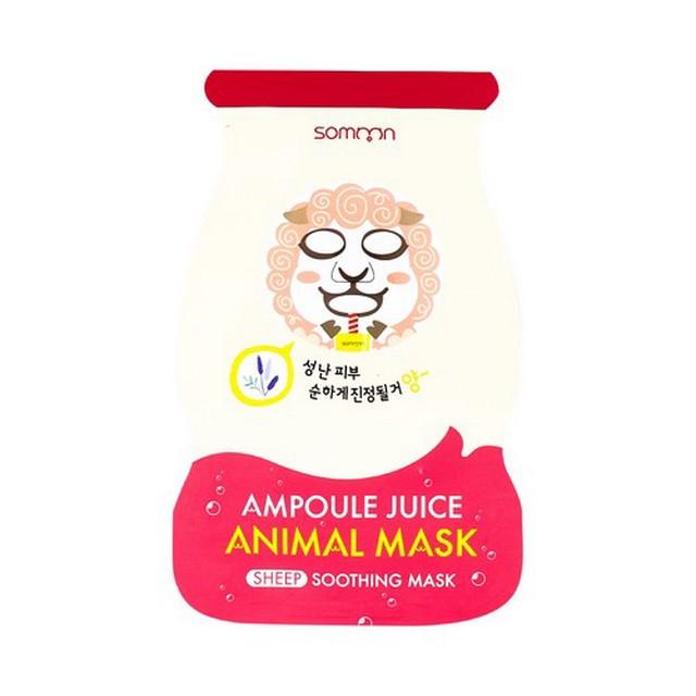 Ампульная маска успокаивающая Somoon Ampoule Juice Animal Mask Sheep
