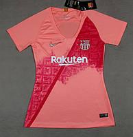 Женская футболка Барселона (сезон 2018-2019)розовая, фото 1