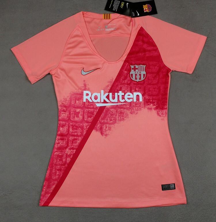 Женская футболка Барселона (сезон 2018-2019)розовая