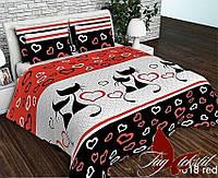 Комплект постельного белья R618red семейный ранфорс