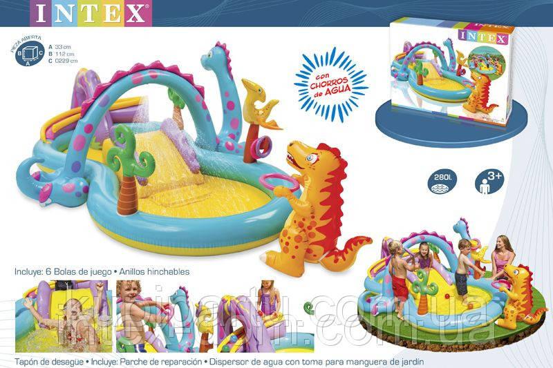 """Детский водный игровой центр """"Планета динозавров"""" Intex 57135(333-229-112 см.)"""