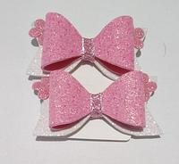 Резинки для волос бантик розовый (2 шт.)