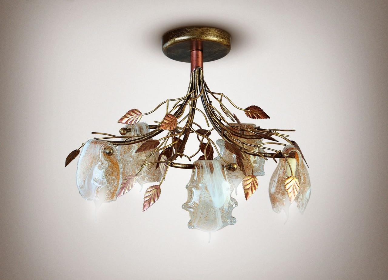 Люстра 5-ти ламповая, флористика 7955