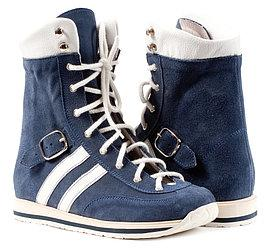 Memo Sprint Голубые (ДЦП)  - Ботинки с высоким жестким задником 33
